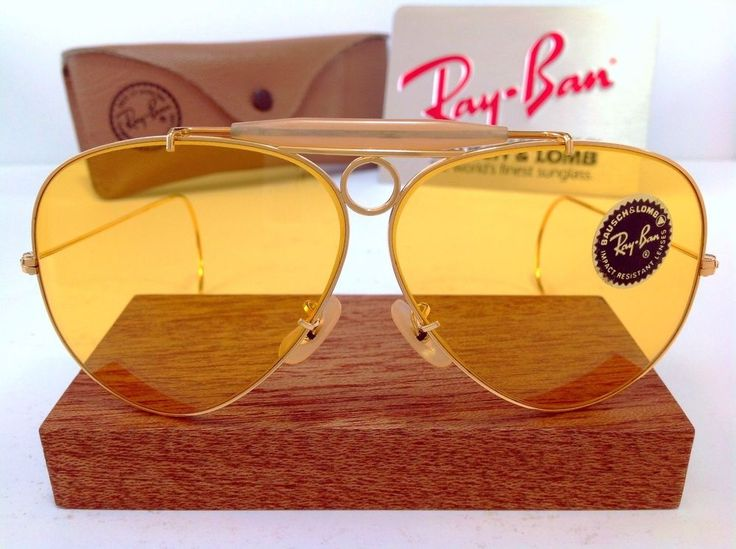 Highly sought after B&L AmberMatic lenses are precision ground from the finest scientifically formulated optical glass. These made in USA 70's B&L AmberMatic lenses are 62mm pre dating the BL etching and white Ray-Ban logo. | eBay!