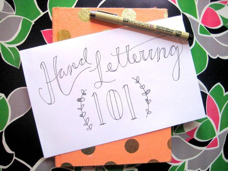Start here for basic, yet beautiful hand lettering tips.