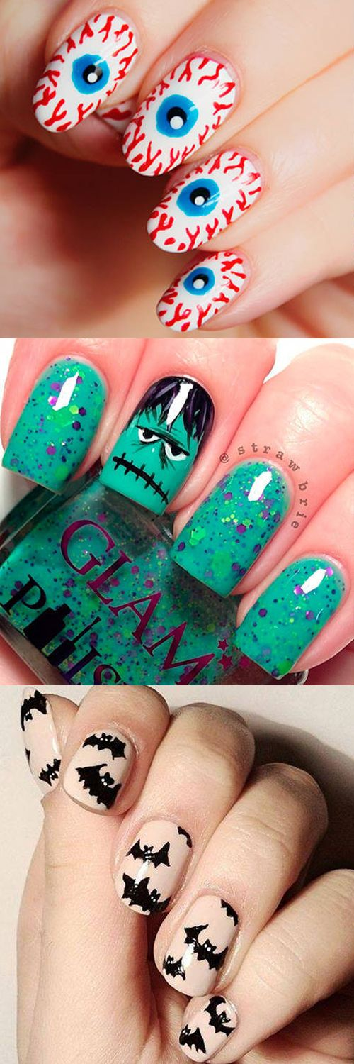 The scariest nail art inspo - we love the eyeballs!