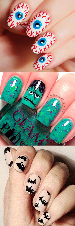 The scariest nail art inspo - we love the eyeballs!