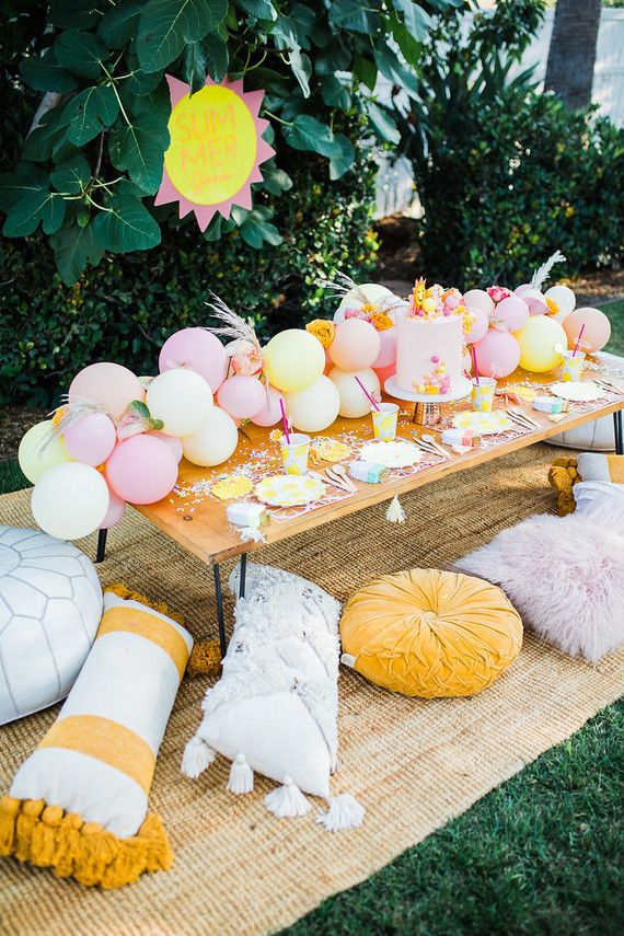 Fun Festive End Of Summer Soiree And Pool Party Outdoors