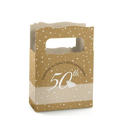 50th Anniversary - Personalized Wedding Anniversary Mini Favor Boxes | BigDotOfHappiness.com