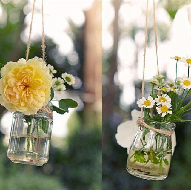 Hanging flower jars