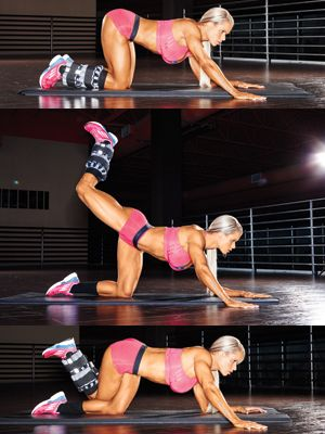 Hello, Gorgeous Glutes! Amplify your assets with a simple twist on a few posterior classics. By adding easily adjustable weights to the glut...