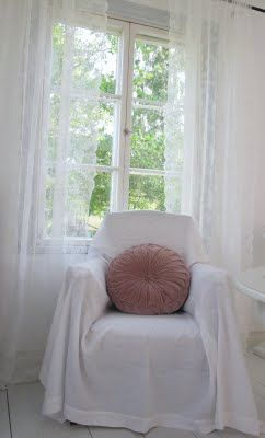 Ikea Alvine Spets curtain panels; pillow urbanoutfitters (?)