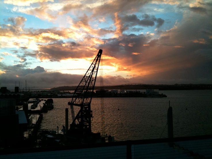 Sunset from Shed 23, Princes Wharf Auckland, NZ