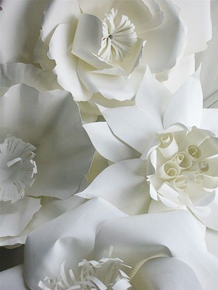 Intricate paper flowers