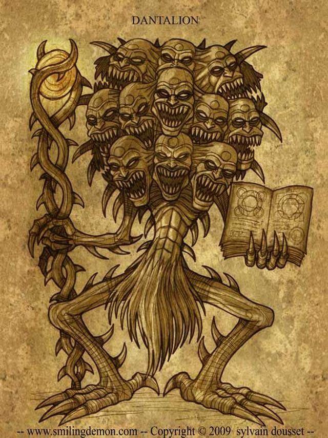 DANTALION Él es un poderoso Gran Duque del infierno, con treinta y seis legiones de demonios bajo su mando