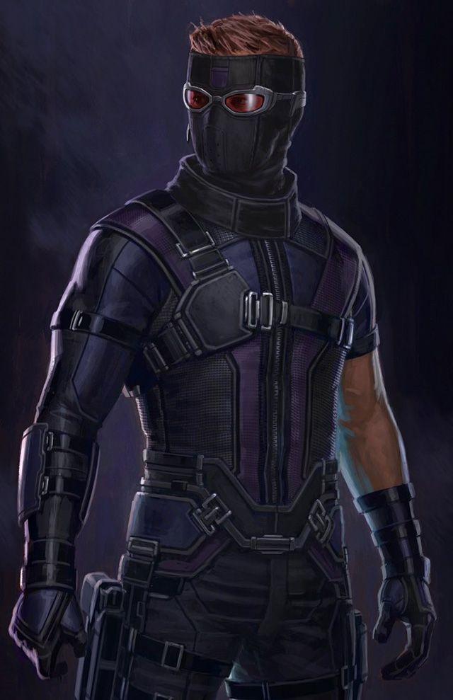 「シビル・ウォー/キャプテン・アメリカ」のコンセプトアート ホークアイがもしもマスクを被っていたら