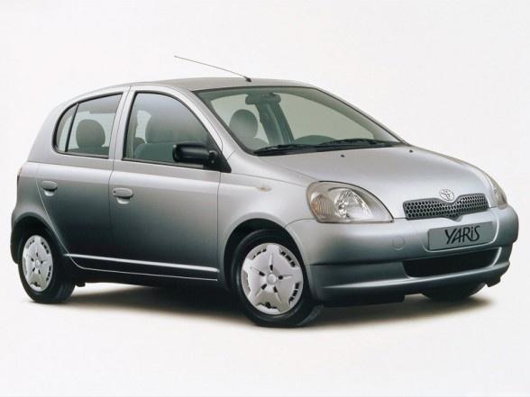 Toyota Yaris - mycket trevlig bil. Vi har haft två olika silverfärgade som andrabil några år.