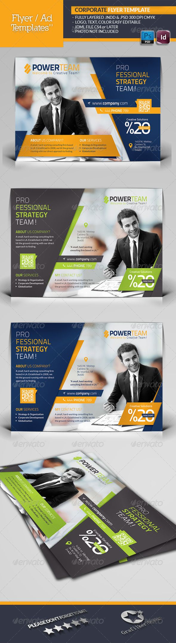 Corporate Flyer Template #GraphicRiver