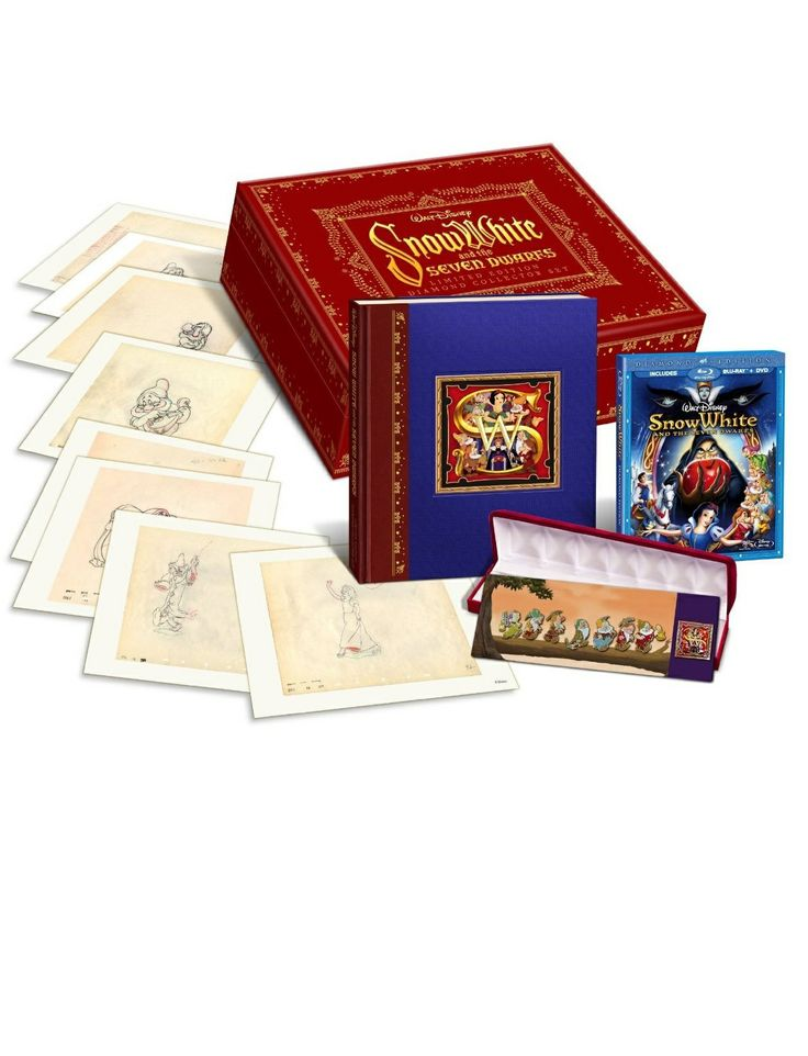 What fan of Snow White wouldn't love to own this amazing Snow White and the Seven Dwarfs Limited Edition Collector's Set on Blu-ray Disc!?! #snowwhite #boxedsets