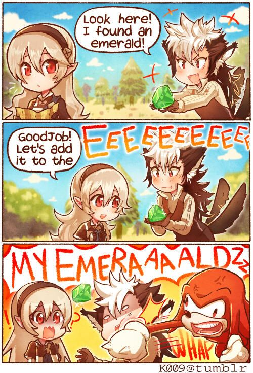 Fire Emblem Fates - Keaton found the wrong kind of emerald! (Funny comic)