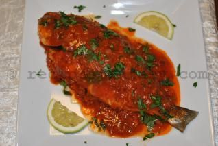 Traditional Bream with harissa-Tunisian recipe, ,
