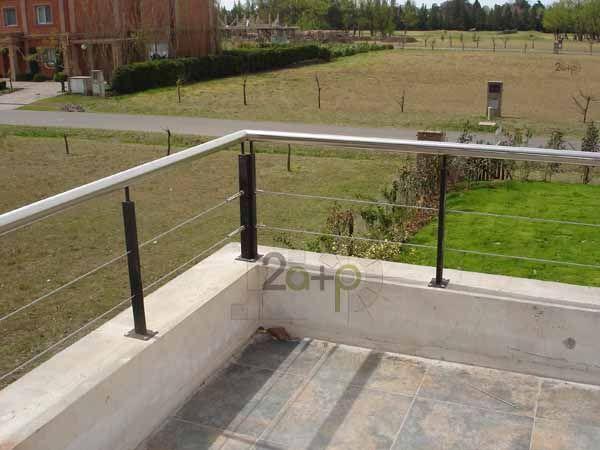 Baranda con tensores para balcones barandilla cables de - Cables de acero ...