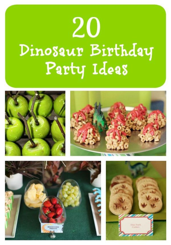 We've put together a list of 20 dinosaur birthday party ideas full of delicious treats, fun party favors, and decorations. Hopefully this list will help you plan the best dinosaur birthday party ever.