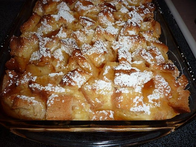 cream cheese french toast casserole. Yum!