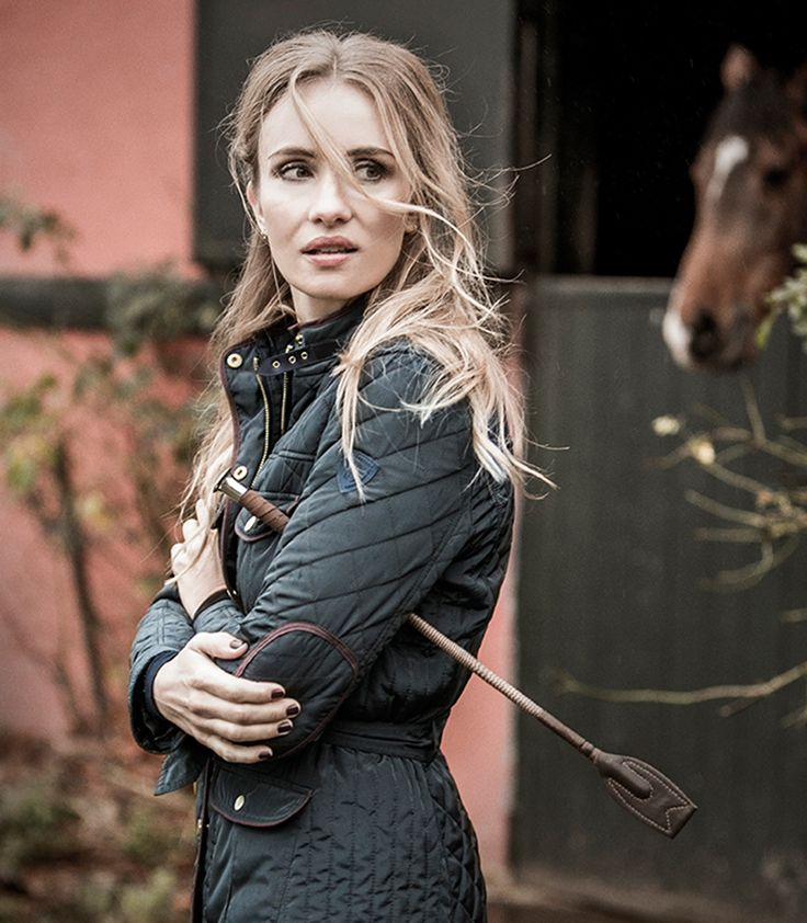 Quilted jacket, equestrian look!