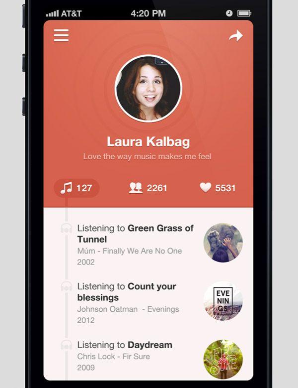Showcase of Beautiful iPhone App UI Concept Designs