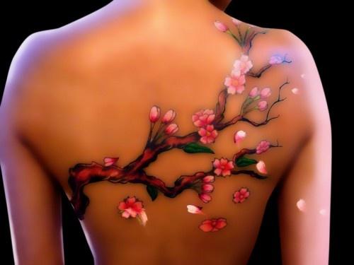 Sakura Tattoo. It looks 3-d