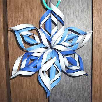 折り紙で雪の結晶の折り方!立体で簡単クリスマス飾りの作り方 | セツの折り紙処