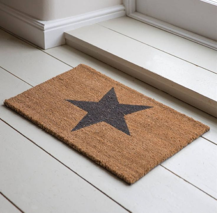 Dress your entrance hall, back or front door with the star quality it deserves. Our Small Star Doormat is ideal for wiping the mud off before entering the house and made from coir, this small doormat is durable and robust. Boasting a large star design, it's the perfect way to inject a little style in any hallway or by any door and is a lovely way to welcome your guests.100% coir. H1 x W65 x D40cm