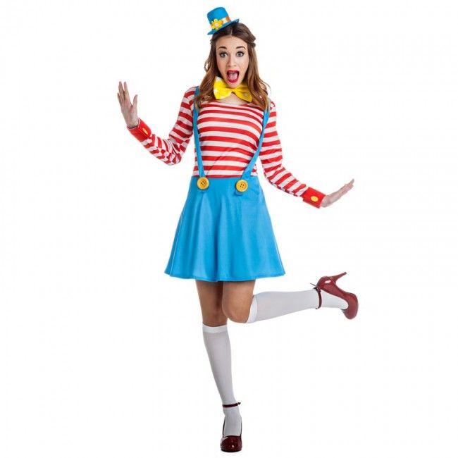 Déguisement Clown femme avec bretelles #costumespouradultes #nouveauté2017