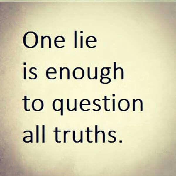 Lies beget lies...