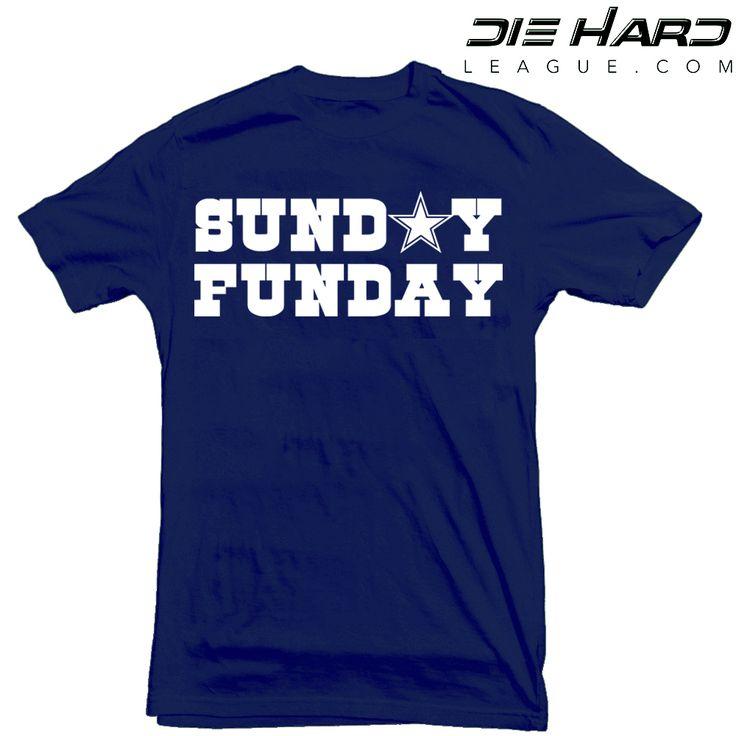 Dez Bryant Dallas Cowboys team color t shirt. Dallas Cowboys T Shirt Sunday Funday Navy NFL Tee. T shirts to match Dallas Cowboys team colors. Cowboys shirt