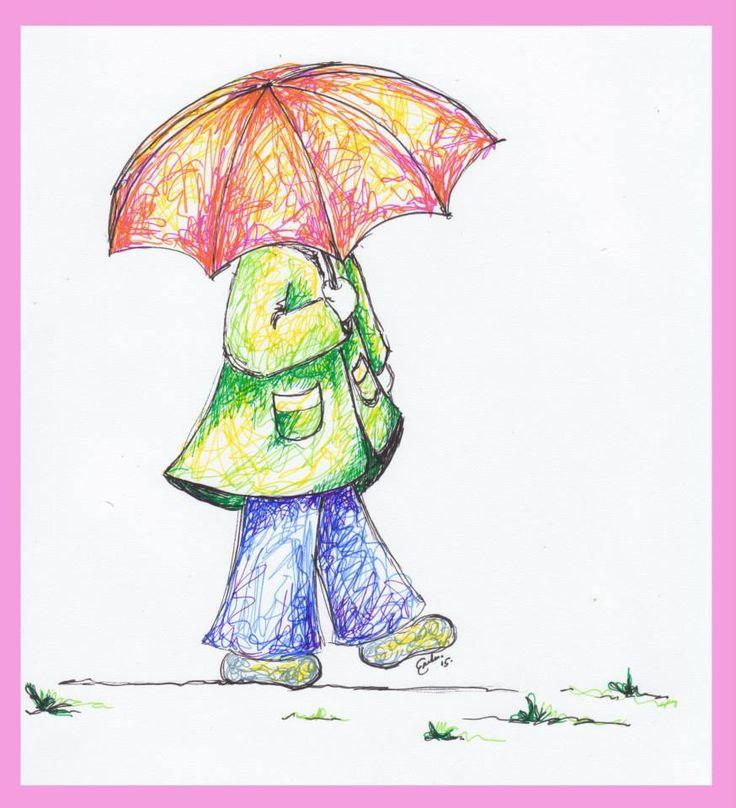 Girl with Umbrella 2 - Erika Reid Illustrations
