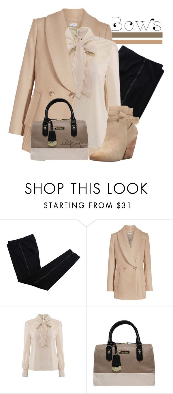 """""""The Trend: Bows"""" by boho-at-heart ❤ liked on Polyvore featuring COSTUME NATIONAL, Carvela Kurt Geiger and Pelle Moda"""