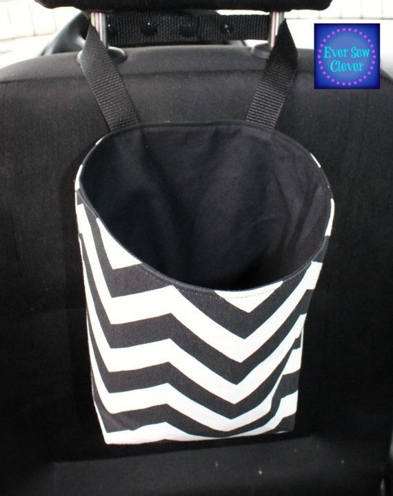Travel Trash Container Trash Bag Car Accessory by EverSewClever on Etsy. Shared by CarDecor.com on-line store for girly car accessories.