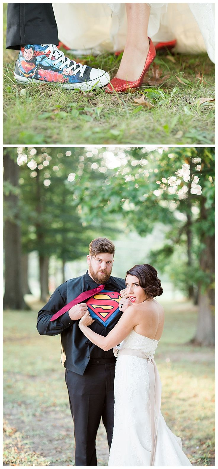 Superman wedding portrait