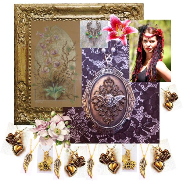 Gipsy girl. Collage inspired by Art of the Orient by Canis Art Studio