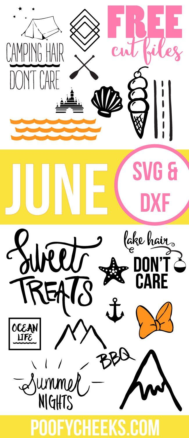 June Free Cut Files - SVG and DXF Summer files