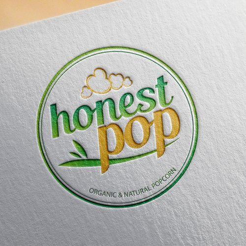 Honest Pop 鈥?20Create a catchy logo for a new popcorn brand