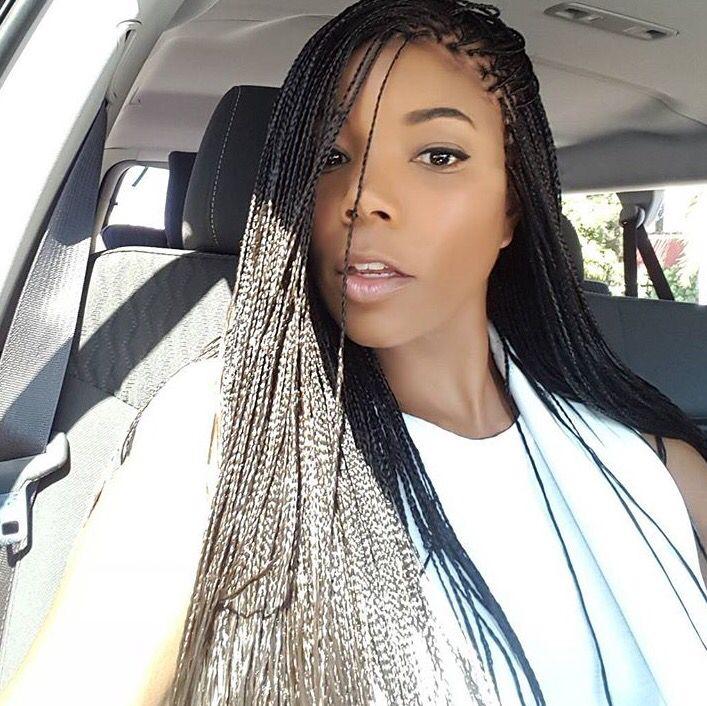 Gabrielle Union micro braids