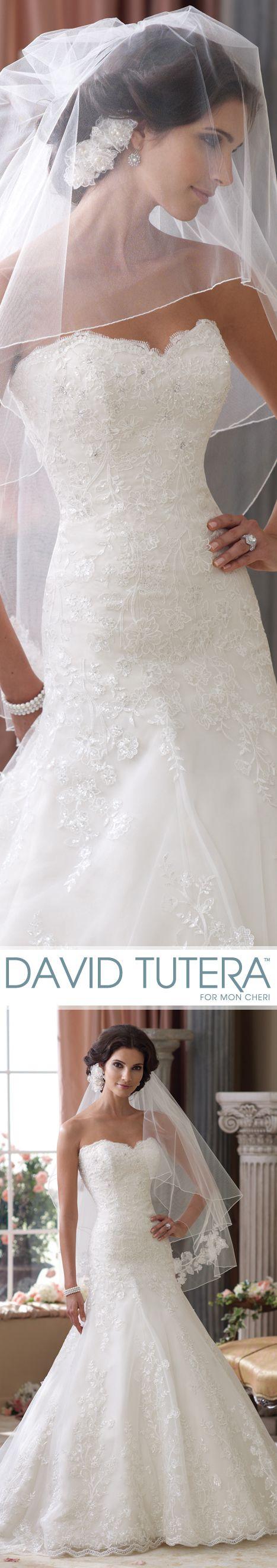 Style No. 114283 ~ Gretna Wedding Dresses 2014 Collection – Apuesta por un recogido con una tiara baja y sobre ello un velo. Otra opción diferente!