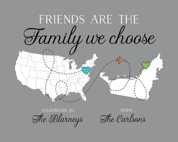 moving gift for friends long distance friend going away quote map
