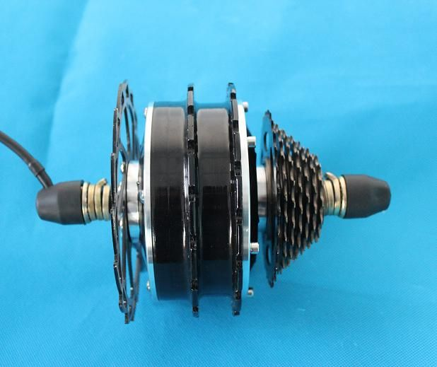 Wholesale cheap 2013 New 36V 350W Brushless Gearless Mini Hub Motor,you can get more details from: http://www.hallomotor.com/wholesale-36v-200w-brushless-gearless-hub-motor-1.html