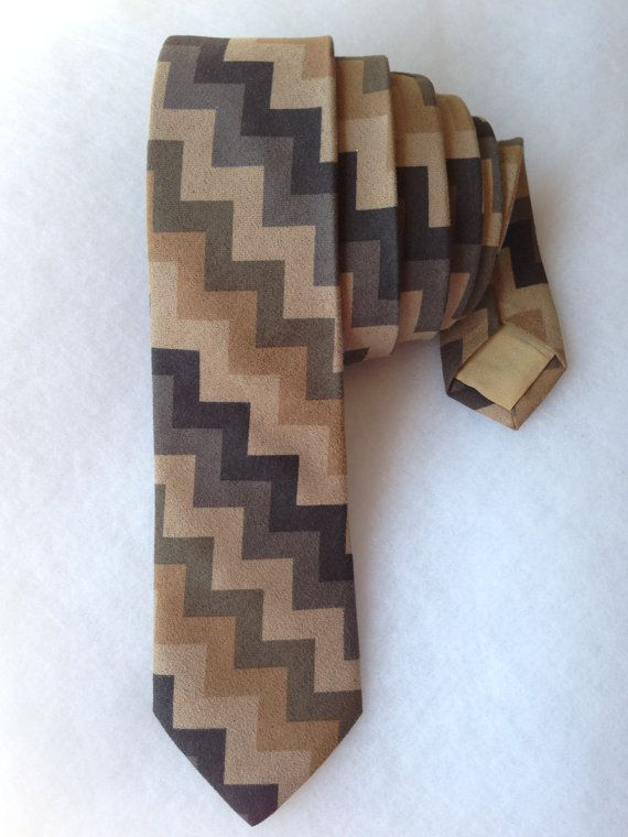 Chevron Zigzag Tie  Diagonal by WatfordTies on Etsy