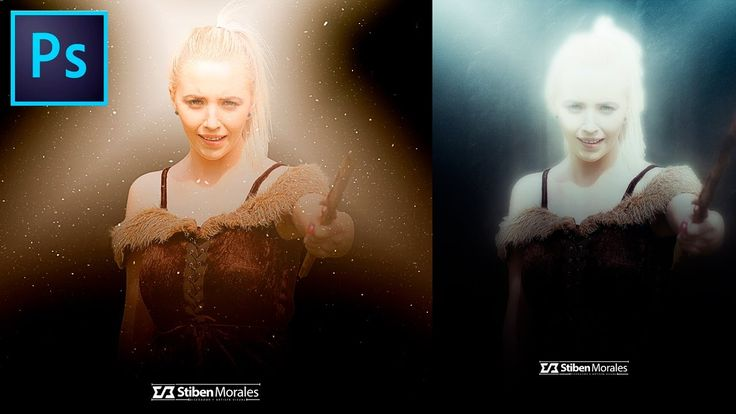 Crear Efectos de iluminacion con #Photoshop - Dark Fantasy