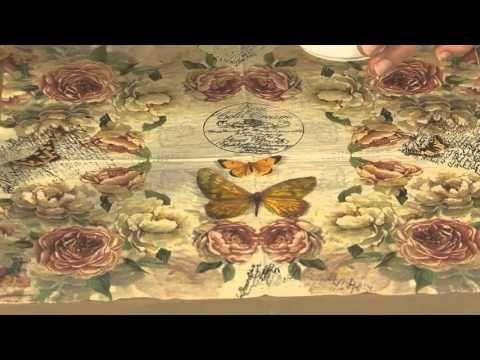 MONITOR   Martha Cacacio   Realiza un Cuadro Estilo Vintage   Manos a la Obra - YouTube