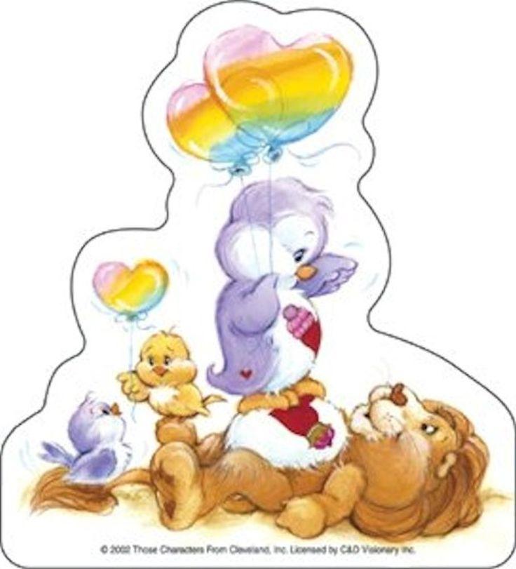 Lion Brave Heart Penguin Cozy Heart, Sticker #carebears