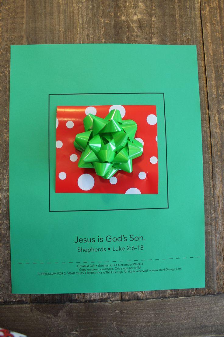 Sample Craft For Greatest Gift 2s Week 3 December