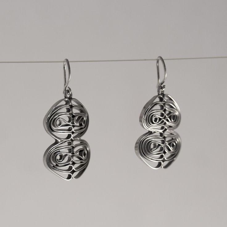 Silver earrings by Liisa Vitali