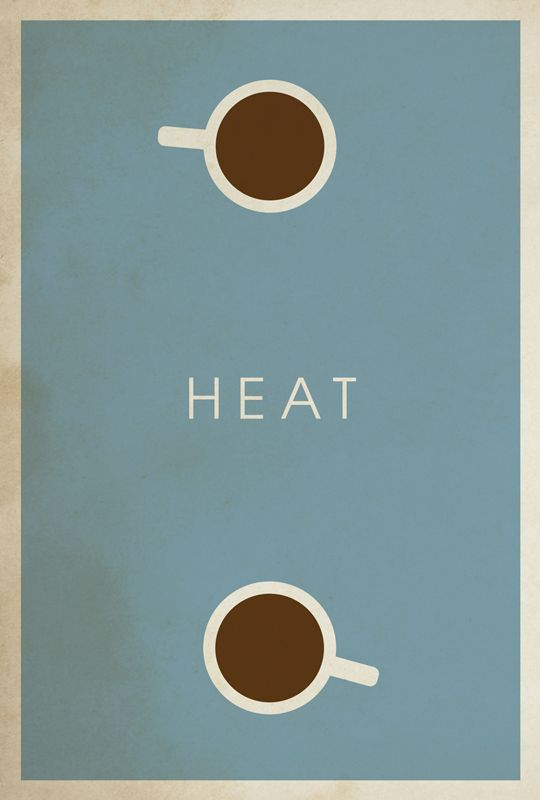 Heat (1995) - Minimal Movie Poster by Matt Owen ~ #mattowen #minimalmovieposters #alternativemovieposters