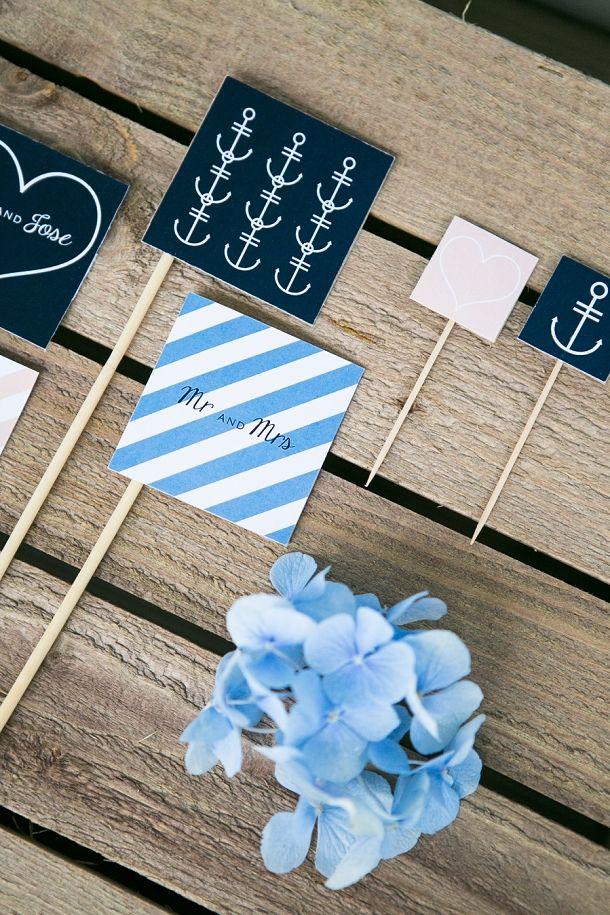 Navy u0026 Peach New England Wedding Invites