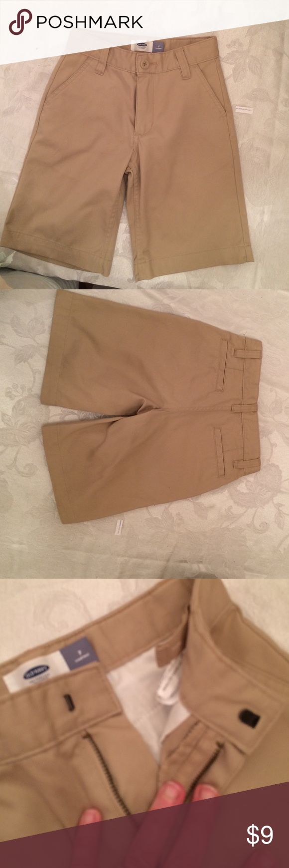 Boys Khaki School Shorts Boys NEW khaki shorts I bought for my grandson and washed them before tried them on they were too small he needs an 8 Old Navy Bottoms Casual