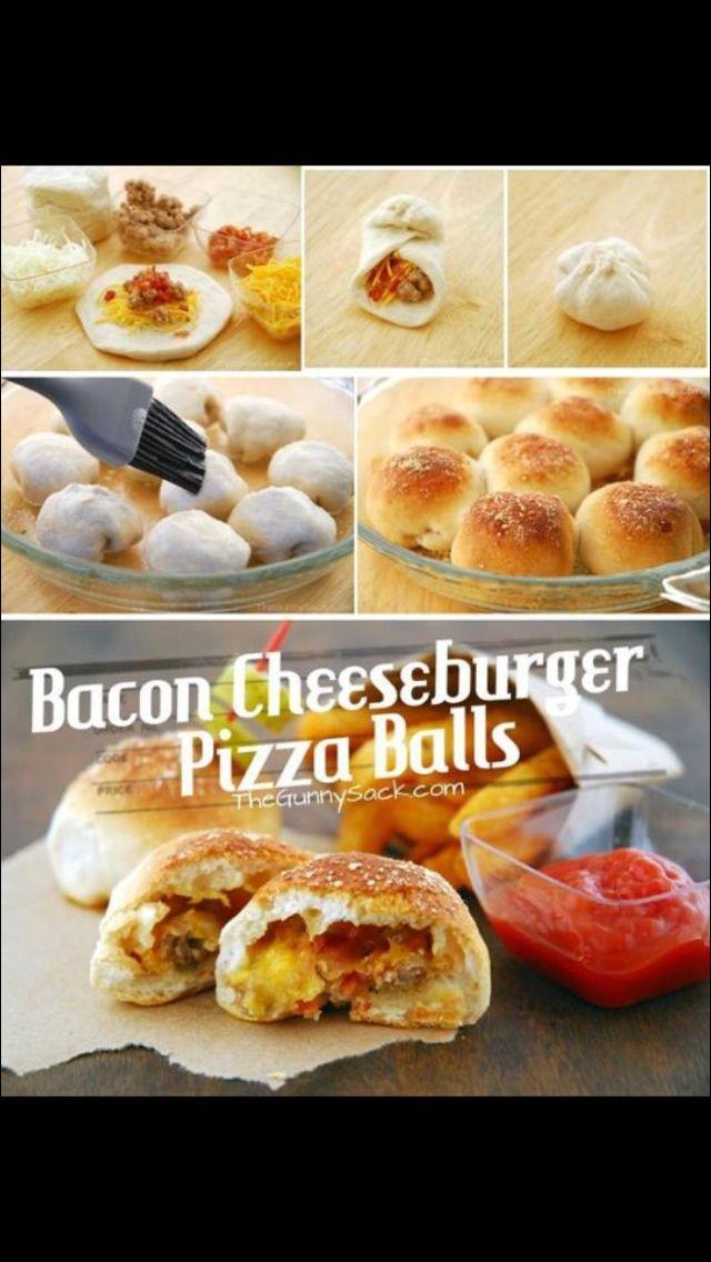Bacon pizza boller (: